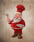 Santa Claus pastry cook — Stock Photo