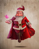 Santa Claus Super Hero — Stock Photo
