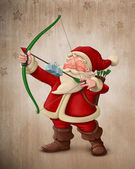 Santa Claus archer — Stock Photo