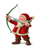 Santa Claus archer - White background — ストック写真
