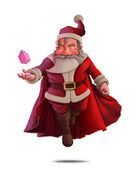 Santa Claus Super Hero - White background — Stock Photo