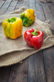 Yellow and red capsicum — Stock Photo