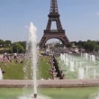 Eiffel tower in paris — Stock Video
