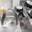Washing dishes concept — Stockfoto