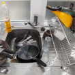 Washing dishes concept — Stock Photo