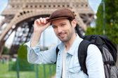 Young attractive traveler in Paris — Stock Photo