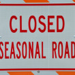Seasonal Road Sign - Stock Photo