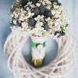 Stock Photo: Bridal bouquet of Gypsophila