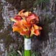 Wedding bouquet orange calla — Stock Photo #40956095