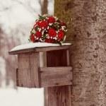 Winter wedding bouquet — Stock Photo