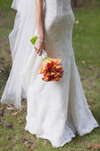 婚礼花束橙色马蹄莲 — 图库照片