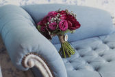 Wedding bouquet of  roses and peonies — Stock Photo