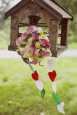 Wedding bouquet in park — Stock Photo
