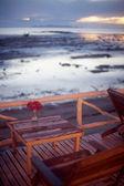 Kawiarnia w pobliżu morza — Zdjęcie stockowe