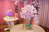 粉红色婚礼花束 — 图库照片