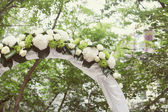 Wedding Arch with flowers — Stock Photo