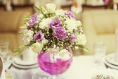 White and pink wedding bouquet — Stock Photo