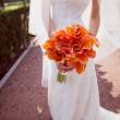 Wedding bouquet orange calla — Stock Photo #50930711