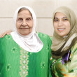 Senior arab mother with her daughter — Stock Photo