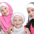 Group of happy little muslim girls — Stock Photo
