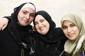 Three arabic muslim women — Stock Photo