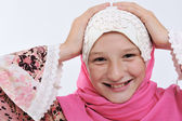 Portrait of muslim little girl — Stock Photo