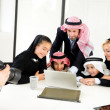 Royalty-Free Stock Photo: Arabic Muslim family having photo shooting