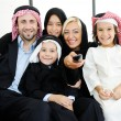 Arabic Muslim business with children at office — Stock Photo #18866519