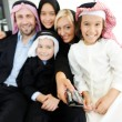 Arabic Muslim business with children at office — Stock Photo #18866549