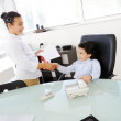 Business children acting as real at office — Stock Photo #18866741