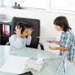 Business children acting as real at office — Stock Photo #18866801