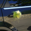 Wedding car decorated with flowers — Stock Photo #2017692