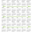 Vector de stock : Calendar, New Year 2013, 2014, 2015, 2016