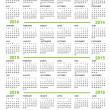 Calendar, New Year 2013, 2014, 2015, 2016 — Vector de stock #12445157
