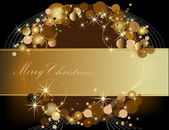 Gold Merry Christmas background — Stock Vector