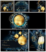 Merry Christmas background collections — Stock Vector