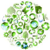 Eco end recycle symbols — Stock Vector