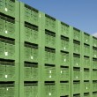 Green Fruit packing crates — Stock Photo
