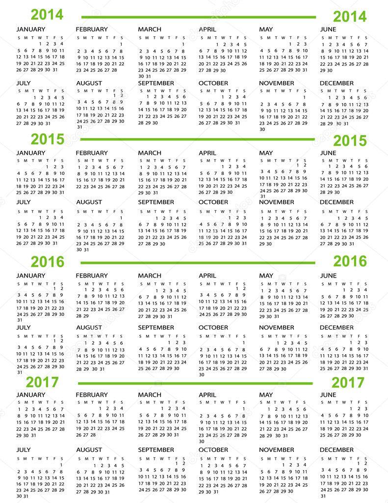 November 2017 Calendar Calendar for 2016 and 2017