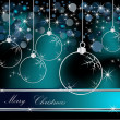 Merry Christmas  background silver and blue — Stockvectorbeeld
