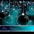 Merry Christmas  background silver and blue — Imagen vectorial