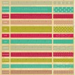 Vintage calendar for 2014 year — Stock Vector