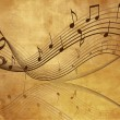 Vintage background with  Music  notes — Vettoriali Stock