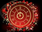 Happy New Year background red and gold — Vector de stock