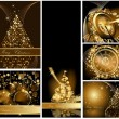 Gold Merry Christmas background collections  — 图库矢量图片