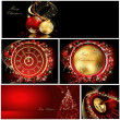 Merry Christmas background collections gold and red — Stock Vector