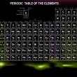 Periodic Table of the Elements with atomic number, symbol and weight  — Векторная иллюстрация