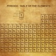 Periodic Table of the Elements with atomic number, symbol and weight — 图库矢量图片