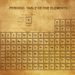 Periodic Table of the Elements with atomic number, symbol and weight — ストックベクター #34241359