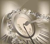 с новым годом фон с часами — Cтоковый вектор